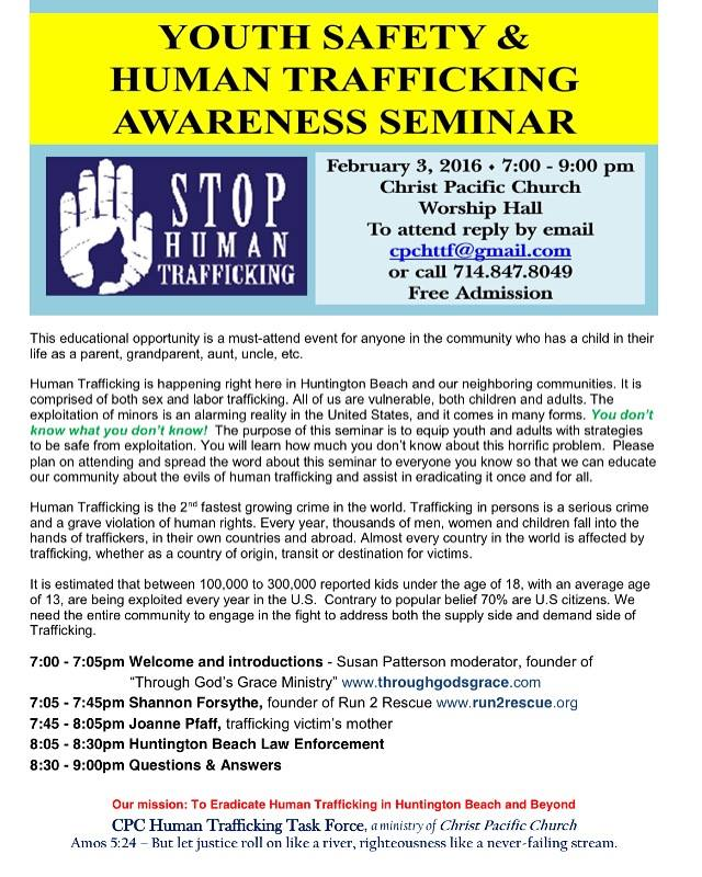 Youth Safety & Human Trafficking Awareness Seminar